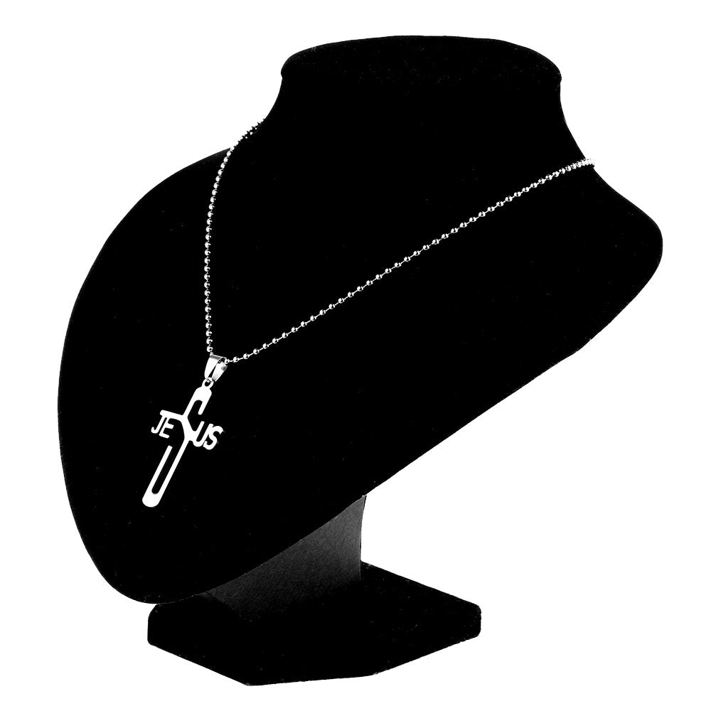 1Pc Newest JESUS CROSS Fashion Pendant Necklace Jewelry Stainless Steel Chain