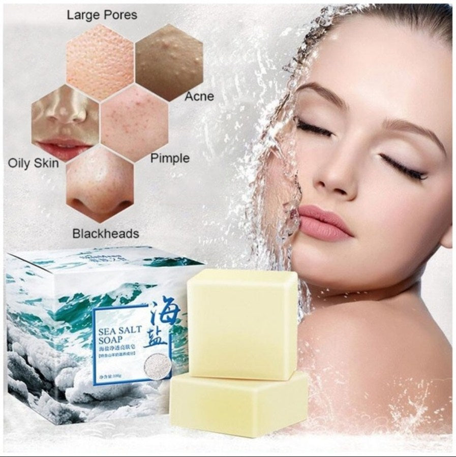 Natural Sea Salt Facial Care Moisturizing Soap