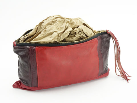 Stuff your bag to keep it's shape while storing.