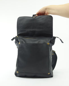 Leather Convertible Backpack