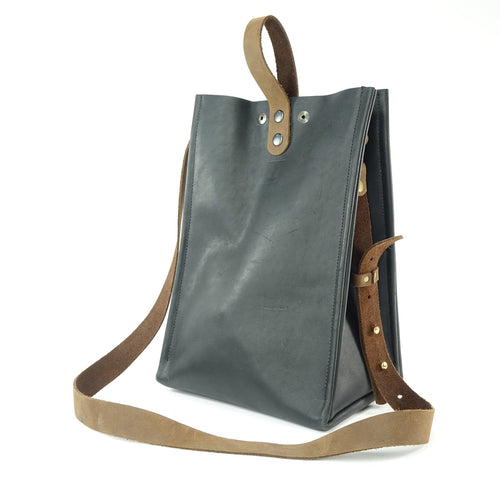Black Leather Tote Purse - Sample Sale