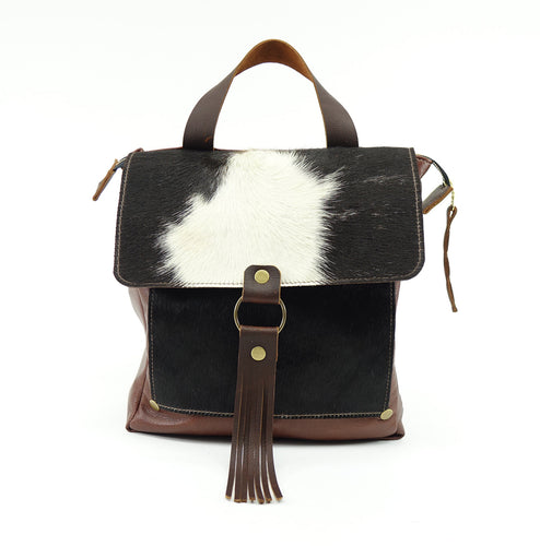 Cowhide Leather Convertible Backpack