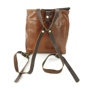 Leather Back Pack made from Hair-on Cowhide