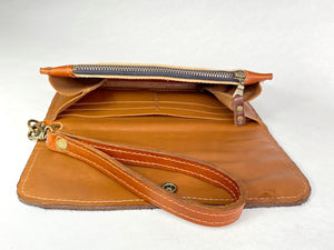 Leather Zip Pouch - Hair-On Cowhide Leather