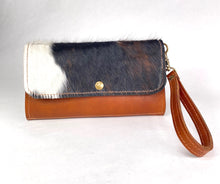 Load image into Gallery viewer, Leather Zip Pouch - Hair-On Cowhide Leather