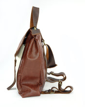 Load image into Gallery viewer, Cowhide Leather Convertible Backpack