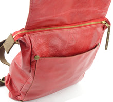 Load image into Gallery viewer, Red Leather Backpack Convertible to Shoulder Bag on Sale