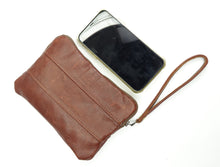 Load image into Gallery viewer, Leather Zip Pouch - All The Colors