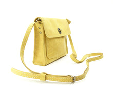 Load image into Gallery viewer, Yellow Leather Cross-body Purse converts to Belt-bag