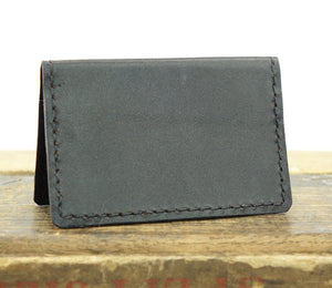 Minimalist Wallet with RFID Blocking Handstitched in Leather