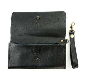 Women's Black Hair-on Cowhide Wallet