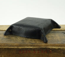 Load image into Gallery viewer, Leather Valet Tray - Cowhide Leather in Black