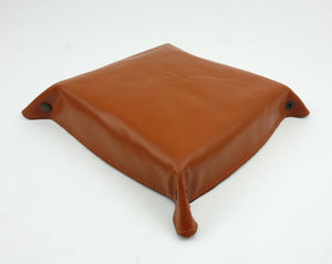 Leather Valet Tray - Cowhide Leather in Brown