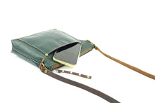 Load image into Gallery viewer, Small Crossbody Purse in Forest Green Leather