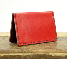 Load image into Gallery viewer, Minimalist Wallet with RFID Blocking Handstitched in Leather