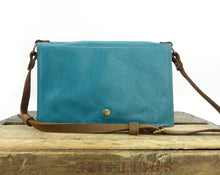 Load image into Gallery viewer, Teal Blue Cross Body Purse