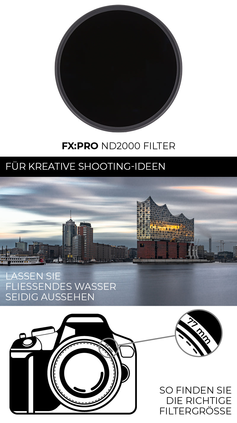 F:X Pro ND2000 ND-Filter von Rollei für kreative Shooting-Ideen