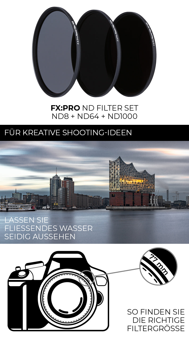 FX:Pro ND Filter Set für kreative Shooting Ideen