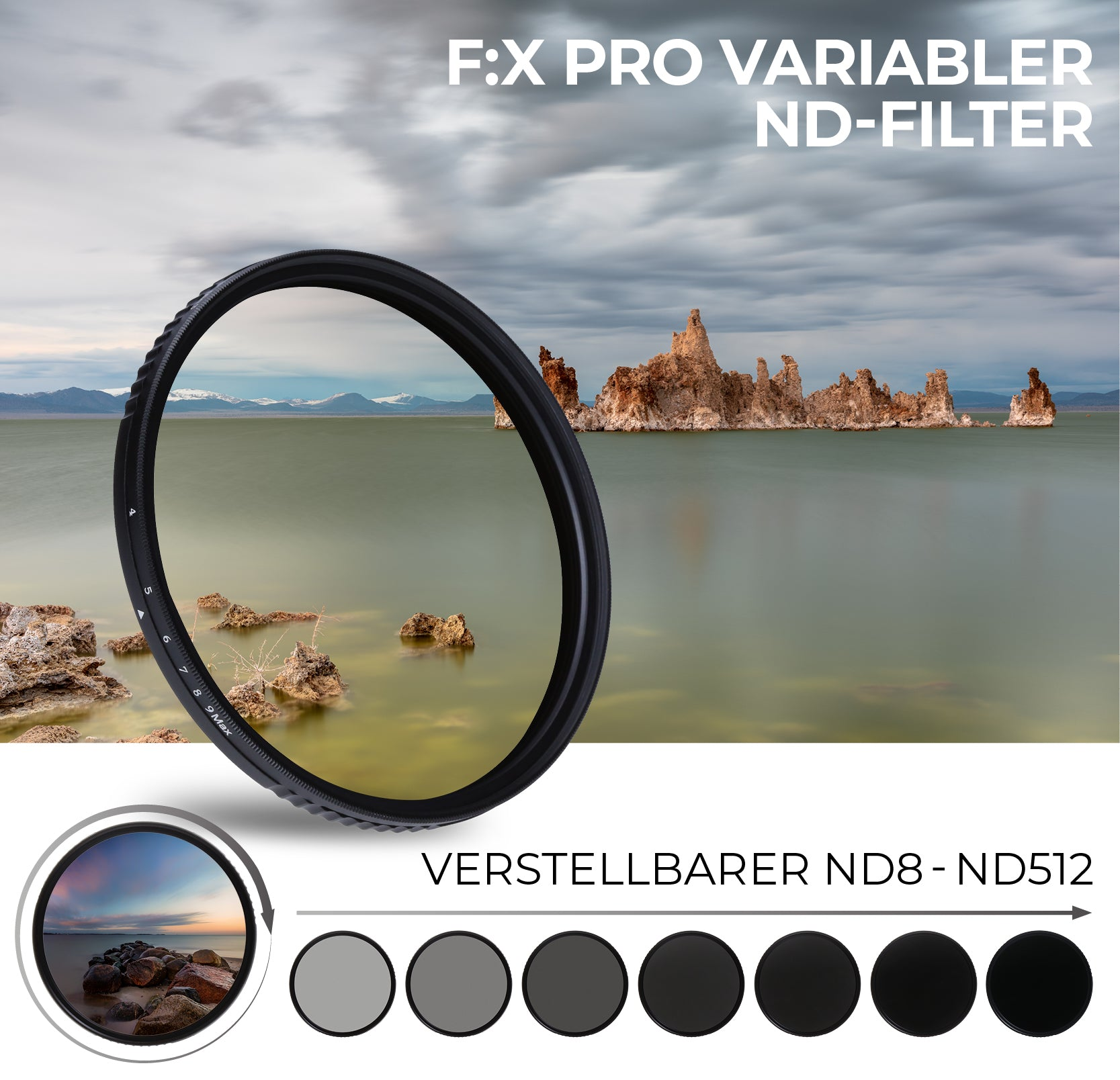 Variabler ND-Filter mit sieben Stufen