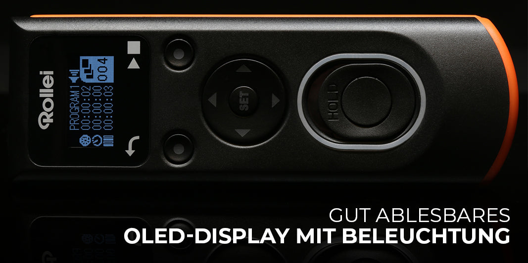 Gut ablesbares OLED-Display mit Beleuchtung