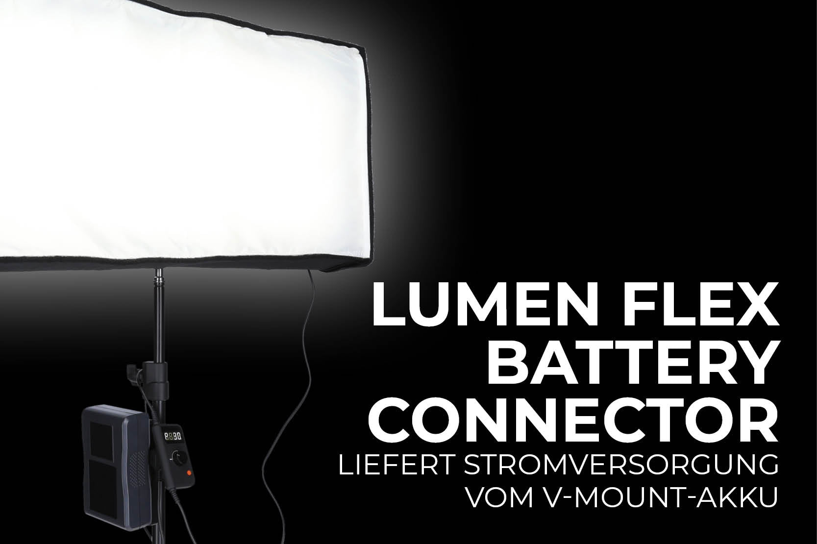 Lumen Flex Battery Connector Anwendungsbild