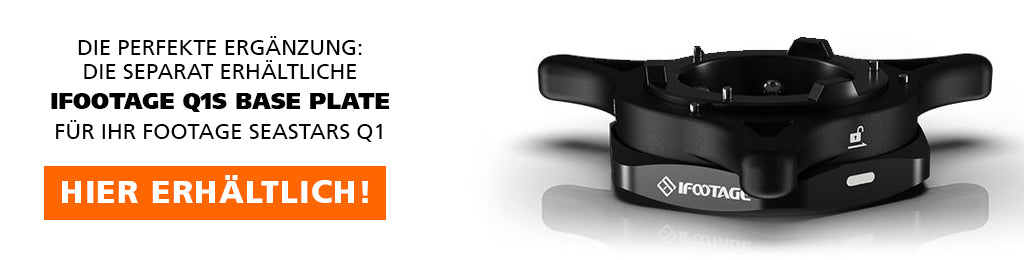 iFootage Base Plate available separately in the Rollei online shop