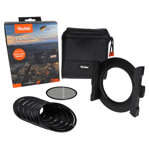 Rollei Filter F:X Pro Filter Holder Kit (Filterhalter 100 mm + Polfilter CPL)