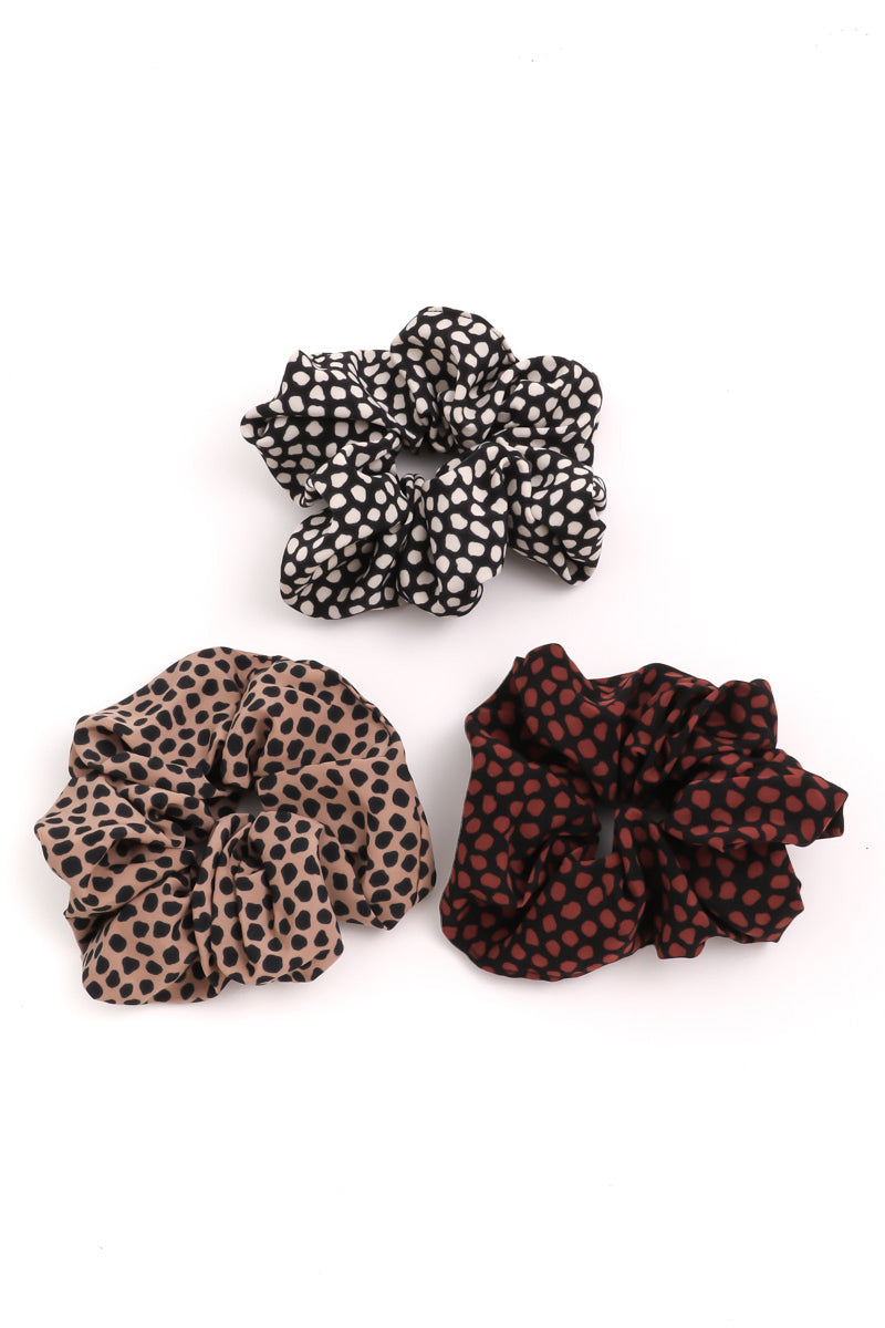 Dotted Scrunchie Set