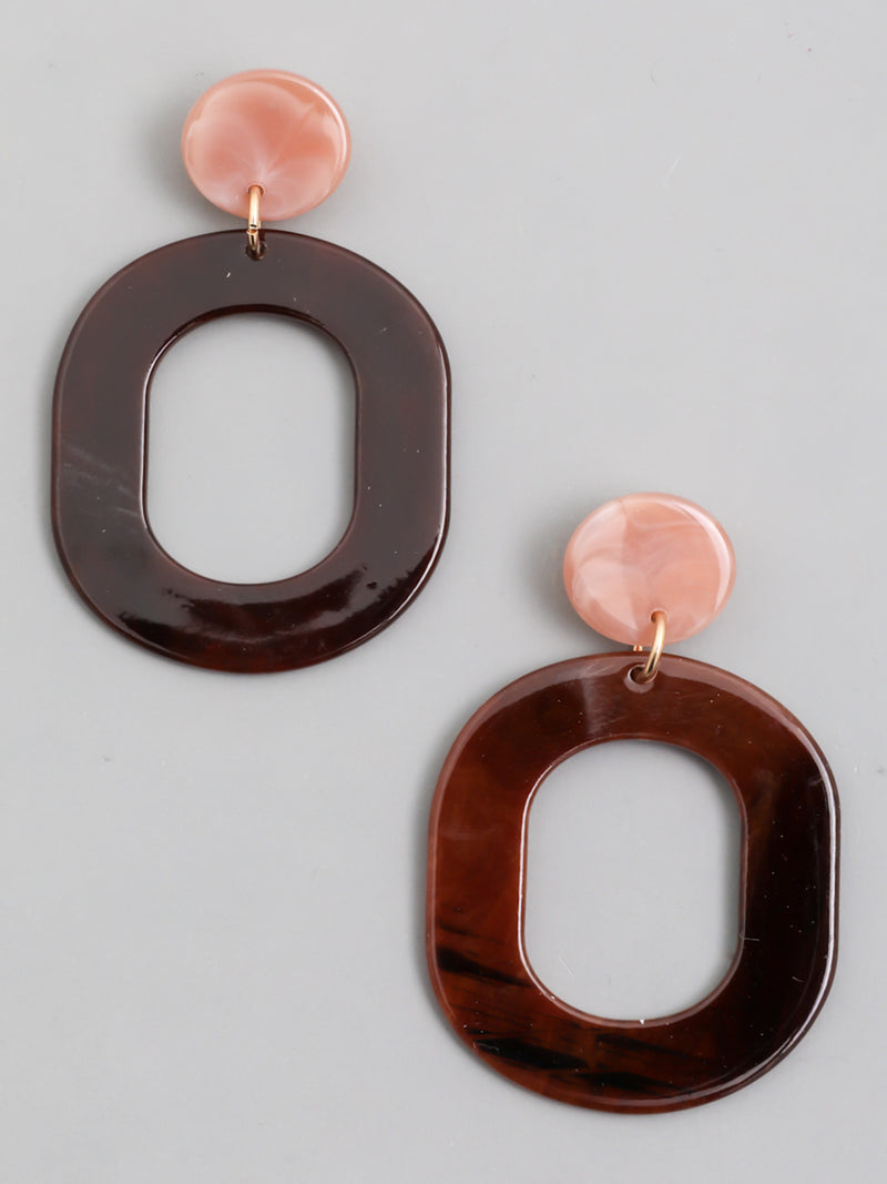 Oval Tortoise Earrings