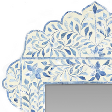 Load image into Gallery viewer, Blue & White Bone Inlay Mirror
