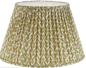 "18"" Gathered Rabanna Lampshade in Moss Green"