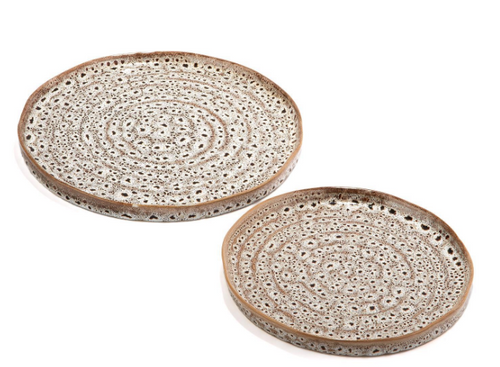 Brown Speckled Platter, Small