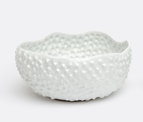 White Sea Urchin Bowl (Large) 12.5''d