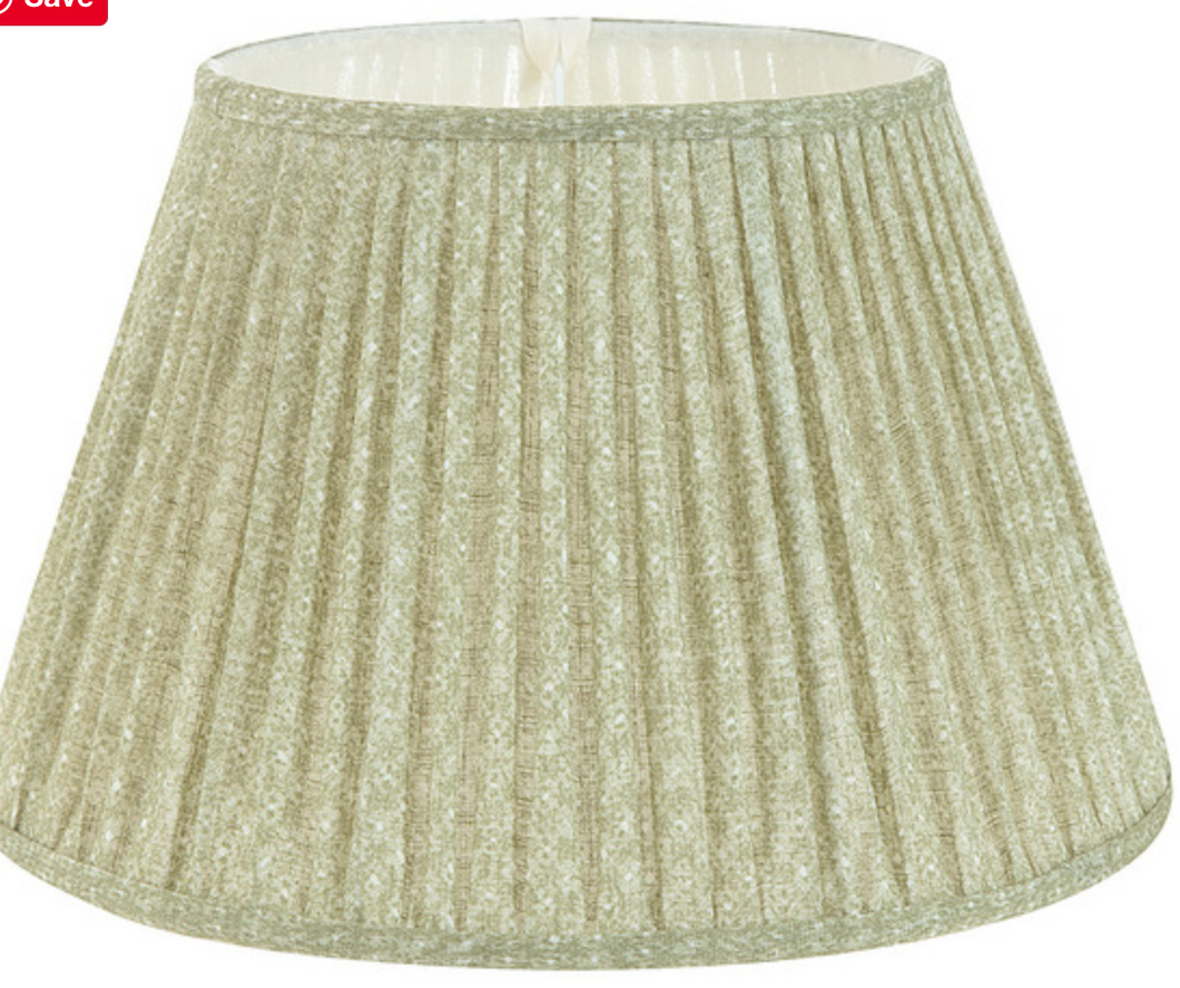 6'' Gathered Sconce Lampshade in Soft Green