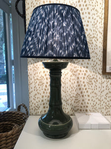 "Tangier Green Ceramic Lamp, Base: 18.5""h x 9""w"