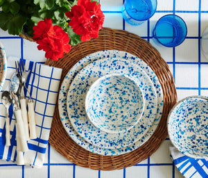 Blue Splatter Bowl, Set of 4