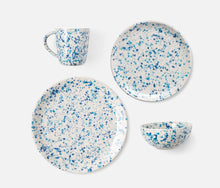 Load image into Gallery viewer, Blue Splatter Bowl, Set of 4