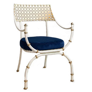 Amanda Nisbet Cielo Chair, outdoor navy velvet