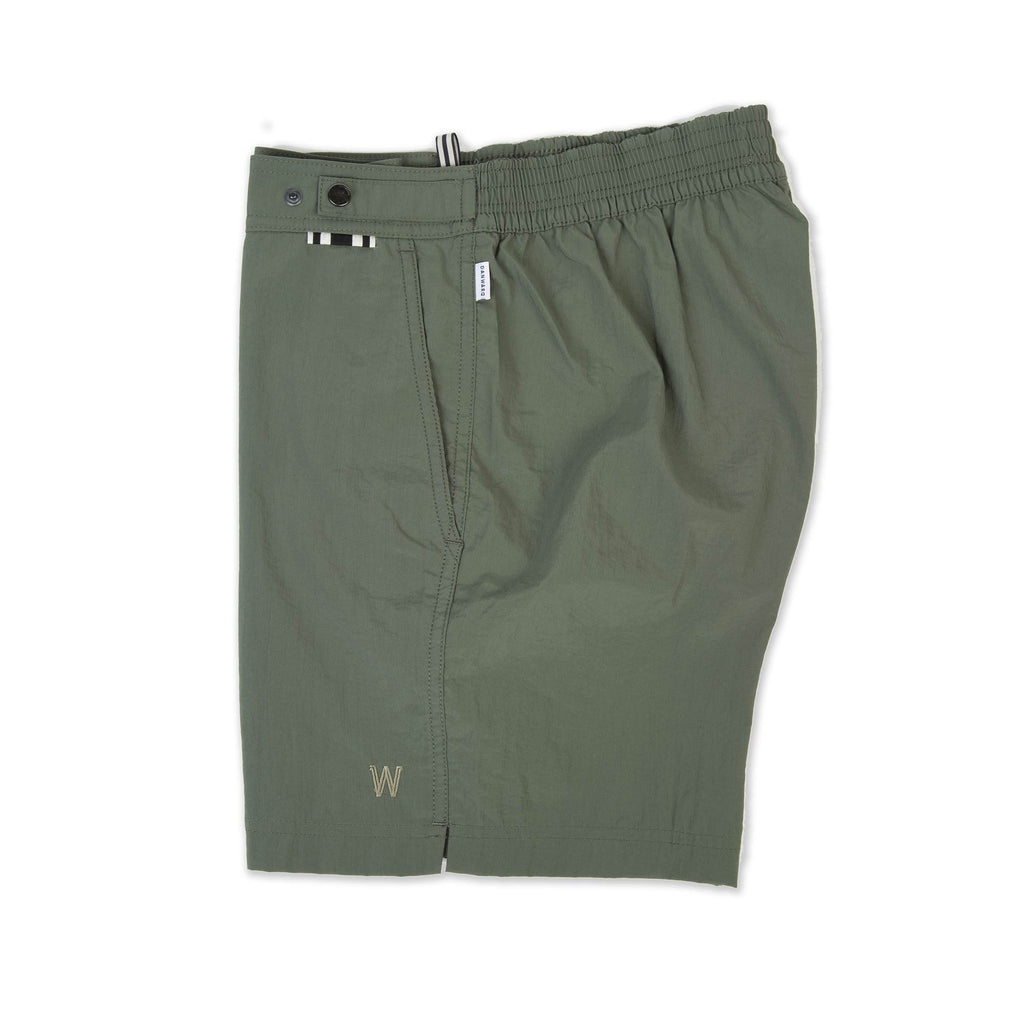 KHAKI TAILORED MID-LENGTH SWIM SHORT