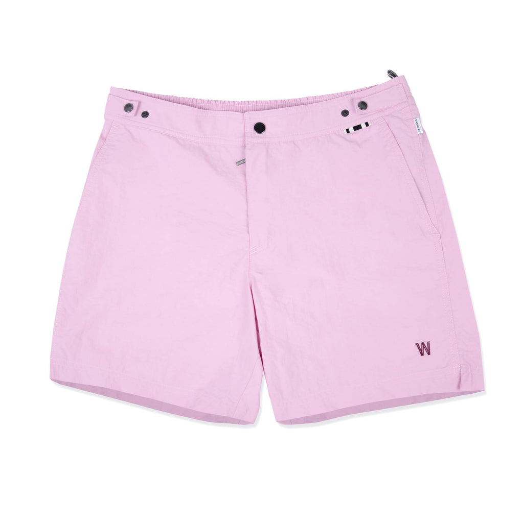 ROSE TAILORED MID-LENGTH SWIM SHORT
