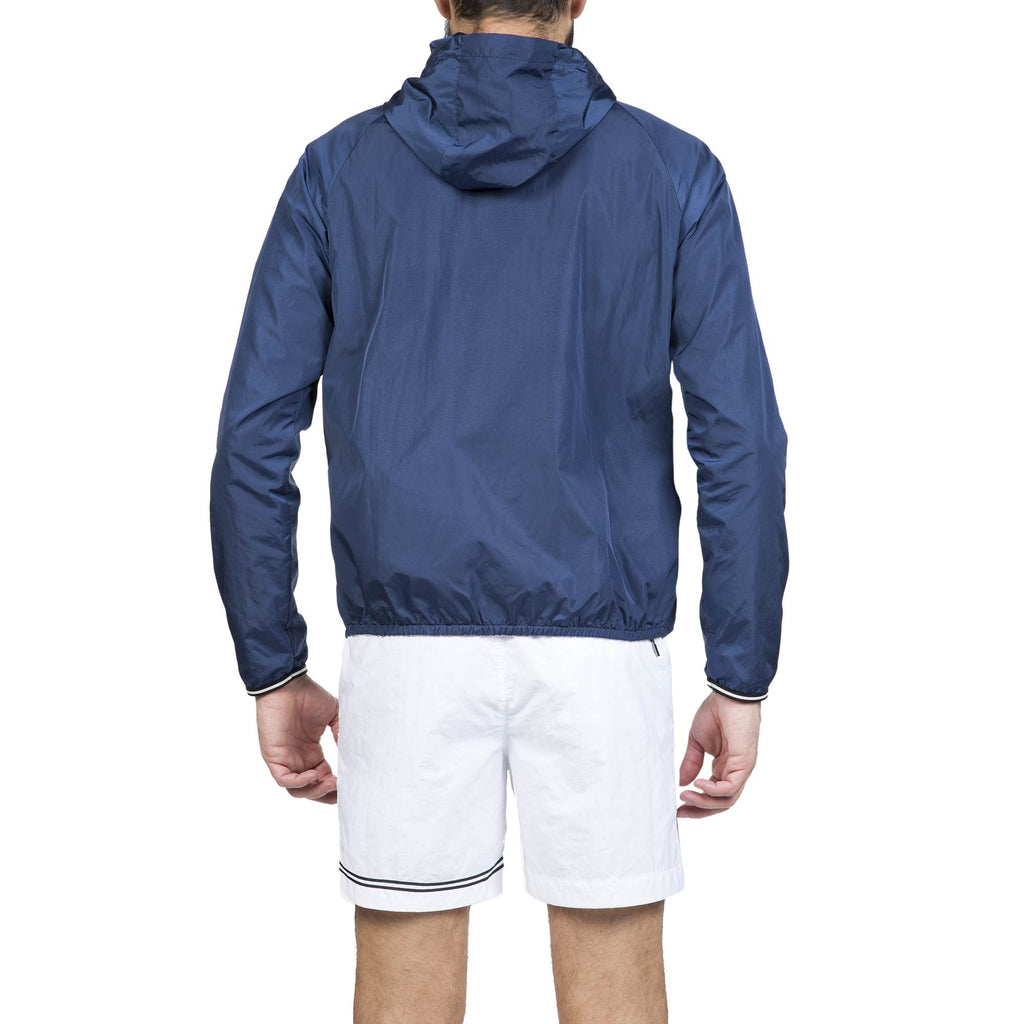 HOODED WIND BREAKER WITH RAGLAN SLEEVES