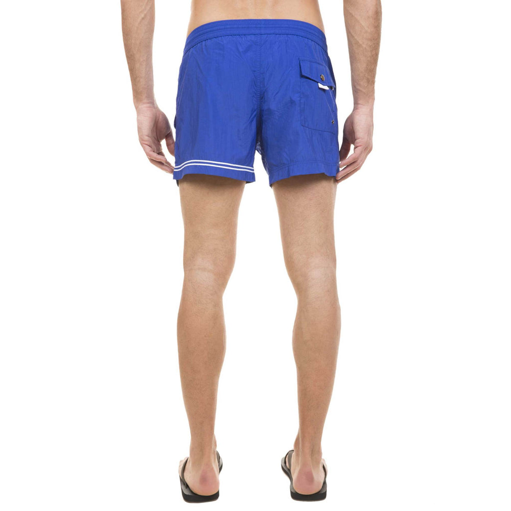 BLUE ELASTICATED SWIM SHORT