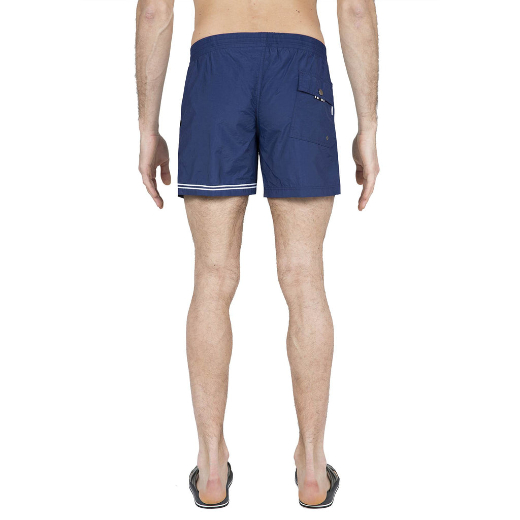 NAVY ELASTICATED SWIM SHORT