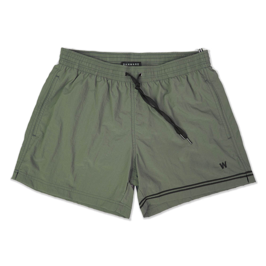 KHAKI ELASTICATED SWIM SHORT