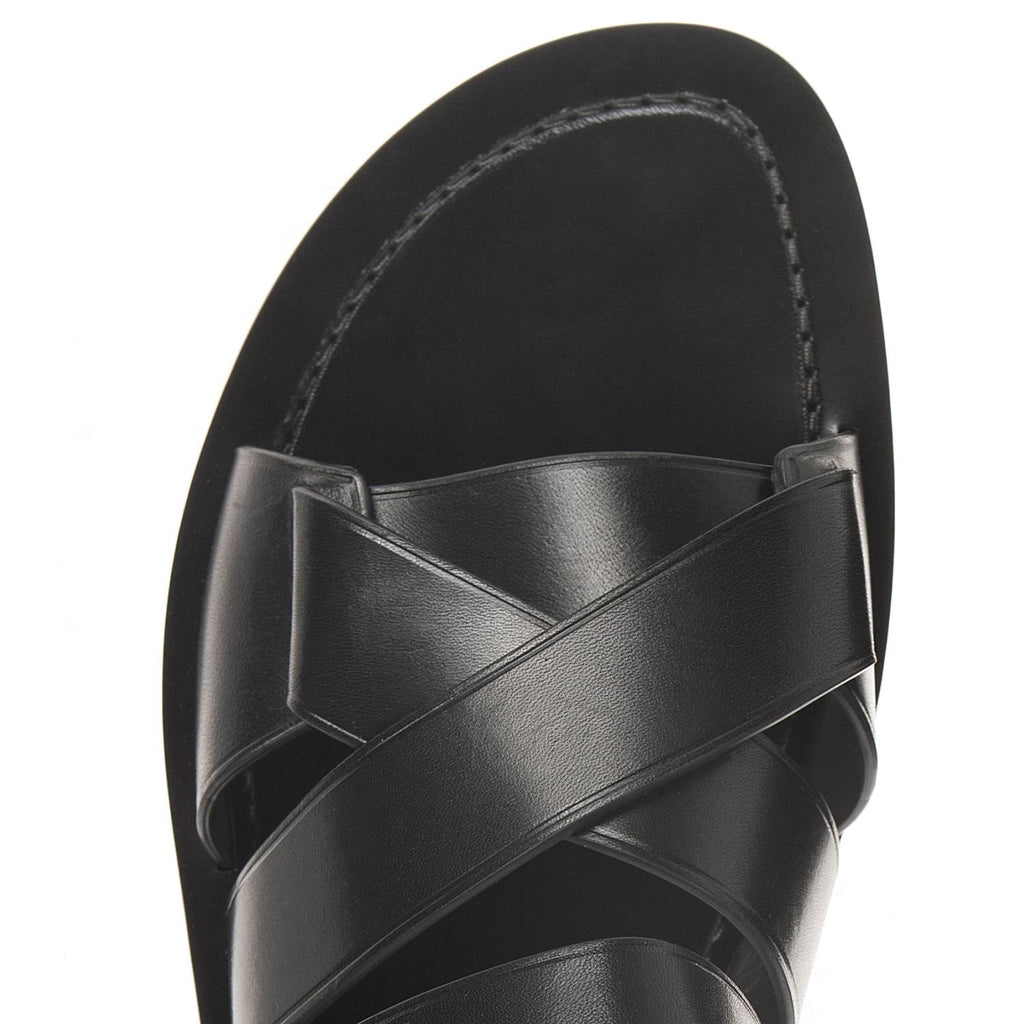 CRISSCROSS MULTI-STRAPPED LEATHER SANDAL