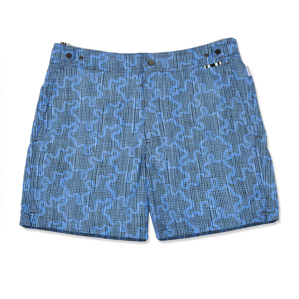 LIGHT BLUE TAILORED MID-LENGTH SWIM SHORT