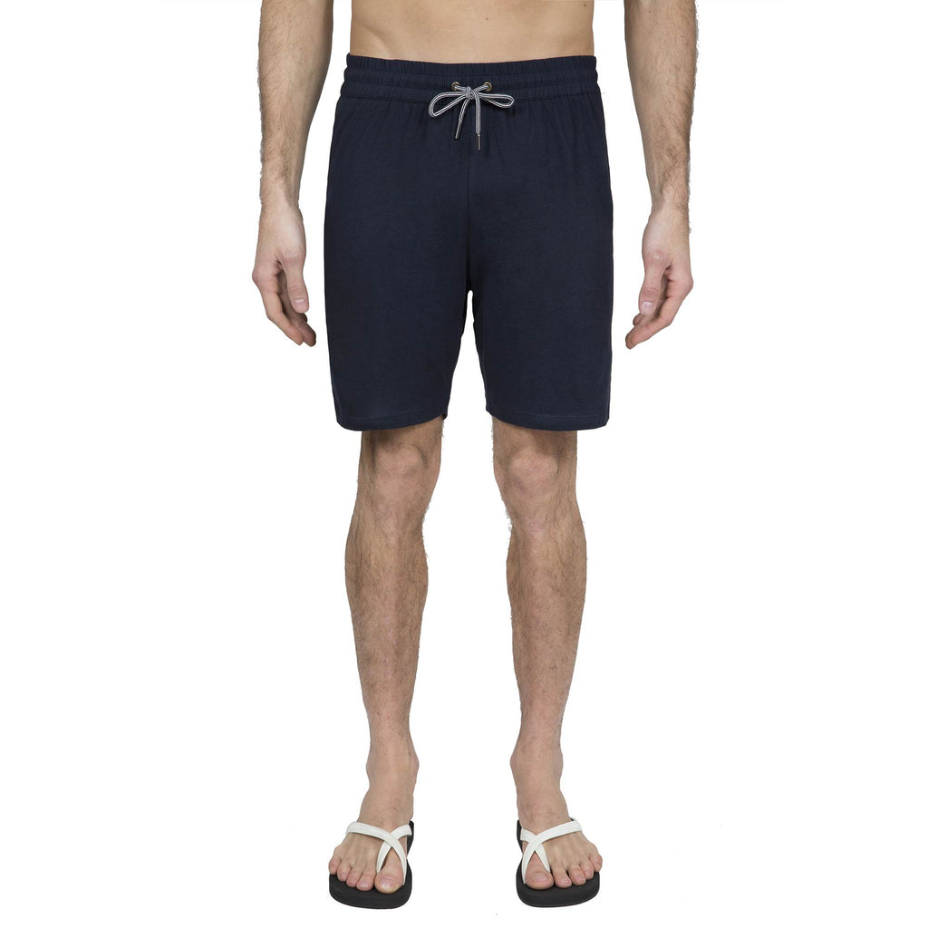 NAVY JERSEY DRAWSTRING SHORT