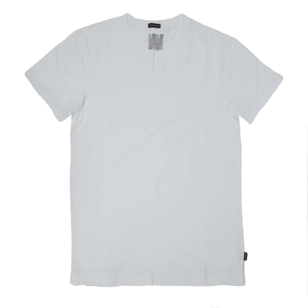 FITTED COTTON V-NECK T-SHIRT