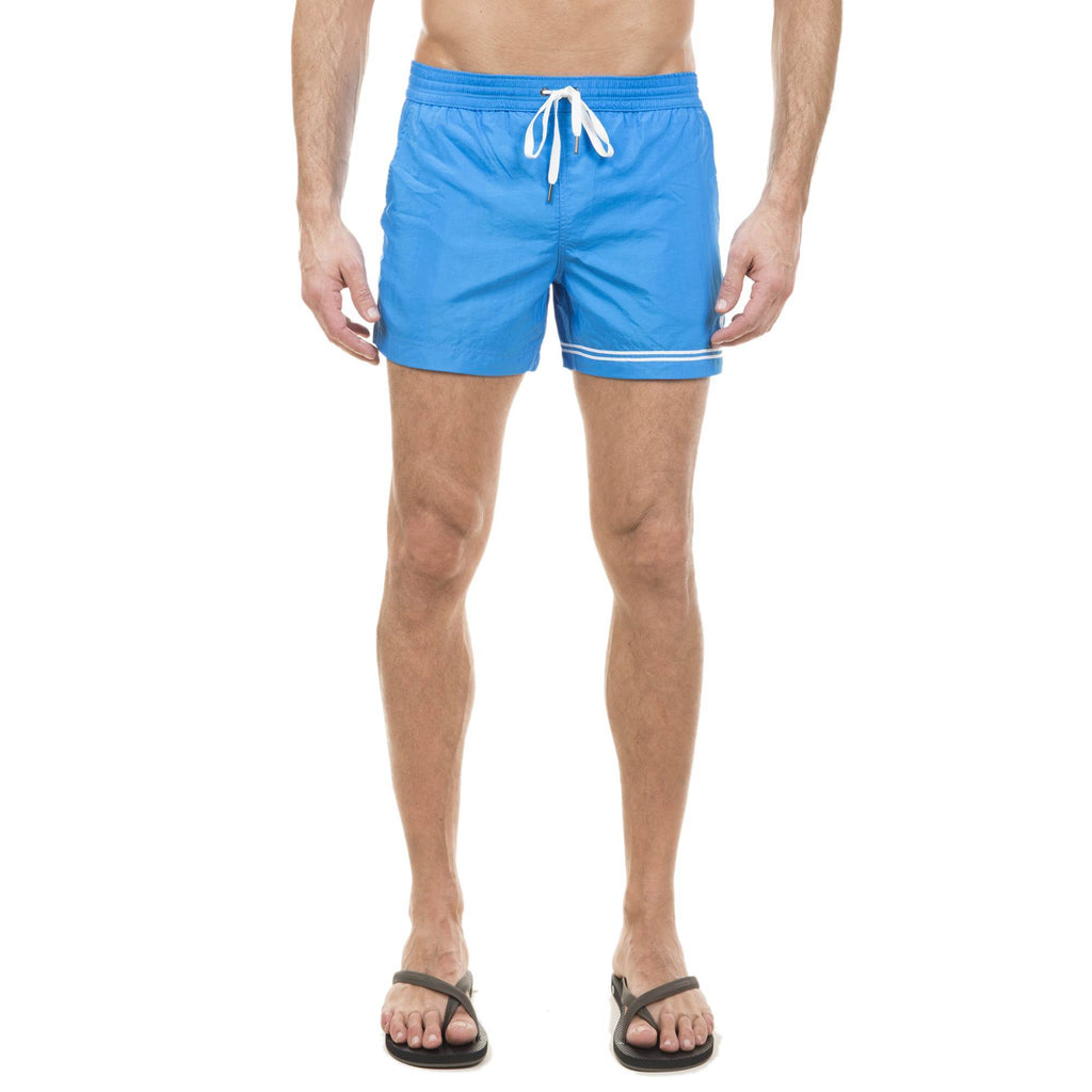 TURQUOISE ELASTICATED SWIM SHORT