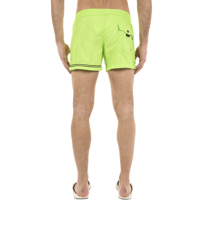 GREEN ELASTICATED SWIM SHORT